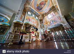 church interior almaty kazakhstan altar iconostasis
