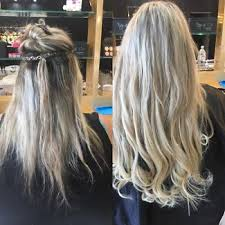 sewed in hair extensions weft hair extensions in gold coast region qld hairdressing