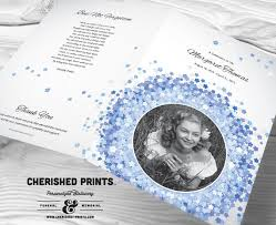 funeral program printing services forget me not funeral program for memorials by cherishedprints