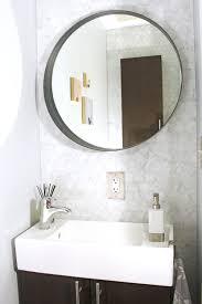 Narrow Powder Room - before u0026 after a teeny tiny powder room makeover u2014 mix u0026 match