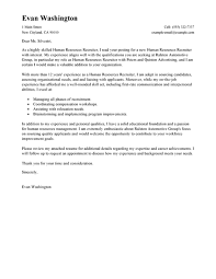 cover letter examples for human resources position hr specialist
