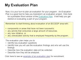 evaluation plan 9 evaluation plan template it cover letter