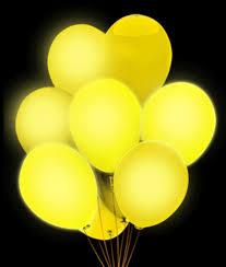 halloween led balloons led 14 inch blinky balloons yellow coolglow com
