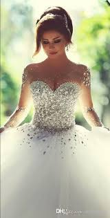 quinceaneras dresses 2015 sleeve wedding dresses with rhinestones crystals