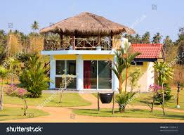 beautiful tropical beach house thailand stock photo 75389413