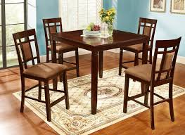 All Wood Dining Room Sets by 5 Piece Solid Wood Dining Table