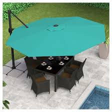 Offset Patio Umbrellas Clearance by 8 5 U0027 Deluxe Offset Patio Umbrella In Turquoise Blue Corliving