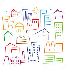 different types of houses u2014 stock vector alexzel21 5675781