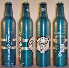 bud light aluminum bottles nfl football bottles
