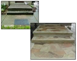 got ugly concrete project 4 porch patio steps sidewalk
