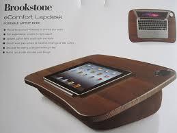 Epad Laptop Desk Brookstone Ecomfort Portable Desk Walnut Look