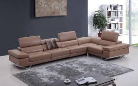 Camel Leather Chair Casa Kerria Modern Camel Italian Leather Sectional Sofa W Audio