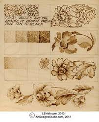 Simple Wood Burning Patterns Free by Pyrography Stroke Guide Http Www Lsirish Com Tutorials