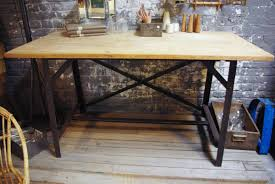 bureau industriel bois et metal bureau industriel metal et bois maison design bahbe com