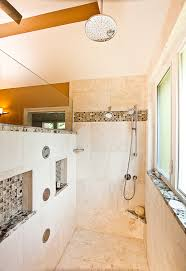 Small Bathroom Designs With Walk In Shower Corner Doorless Shower Design Ideas Pictures Remodel And Decor