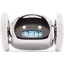 clocky robotic alarm clock chrome robotshop