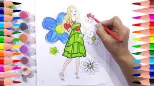 paint barbie coloring pages kids color barbie princess