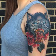 watercolor wolf tattoo designs for women on upper arm tattoos
