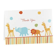 thank you baby shower jungle baby animal baby shower thank you cards 25 count target