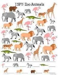 printable animal activities zoo animals i spy printable for kids spy zoos and school