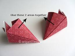 cara membuat bunga iris dari kertas origami easy origami kusudama flower folding instructions