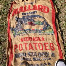 burlap bags for sale find more vintage burlap bag 100 pound potato sack advertising
