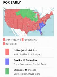 Nfl Usa Map by Week 17 Nfl Tv Maps Revenge Of The Birds
