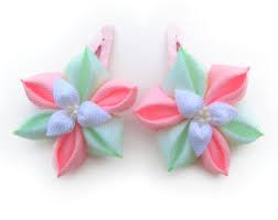 Flower Clips For Hair - pink flower clip etsy