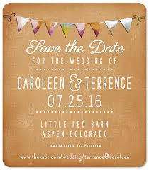 rustic save the dates rustic bunting save the date magnet