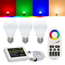 smart flood light bulbs rgbw led kit rgb white led bulbs wifi controller remote torchstar