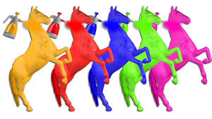 learn colors with horse body painting colours animated 3d videos