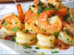 comment cuisiner des crevettes roses crevettes sautées ail et persil le cuisine de samar