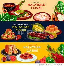 set cuisine malaysian cuisine and food set ภาพประกอบสต อก
