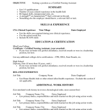 resume for cna exles certified nursing assistant resume templates therpgmovie