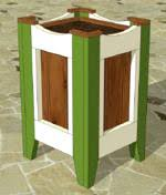 Wood Planter Box Plans Free by Free Wooden Planters Plans Woodworking Plans And Information At