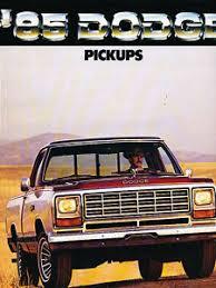 1985 dodge ram truck 1985 dodge ram truck original sales brochure catalog ram