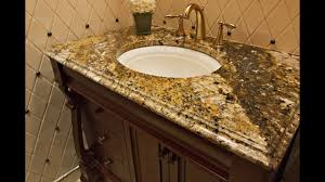 Vanity Countertops With Sink Granite Bathroom Vanity Countertops Youtube