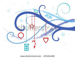 theme line winter abstract background on christmas winter theme stock vector 223494466
