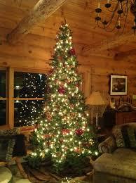 Decorative Pine Trees Beautiful Christmas Mountain Log Cabins Using Decorative Pine