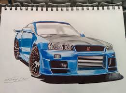 nissan r34 paul walker patrick birke inspired me with his skyline r34 tutorial on youtube