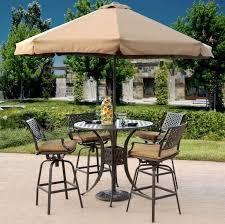 nice bistro set with umbrella hole bistro patio set with umbrella