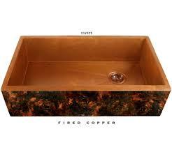 Kitchen Kitchen Sink Protector Hammered Copper Apron Sink Kraus by Farm House Sinks Dark Blue Cabinets White Upper Cabinets Open