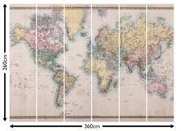 world map wallpaper murals map wall murals loveabode com 1860 vintage world map wallpaper wall mural