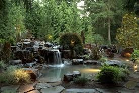 exterior design backyard pond with garden fountains and outdoor
