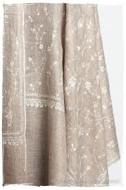 Dressed To Thrill Shower Curtain Taupe Blanc Paisley L U0027amour Soft Cashmere Scarf Shawl U2014 Seasons By