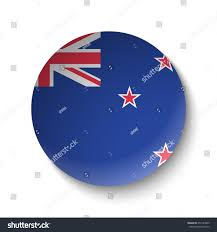 Flag New Zealand White Paper Circle Flag New Zealand Stock Vector 657784945