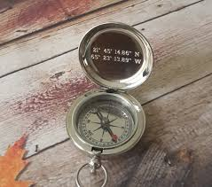 personalized silver gifts compass engraved compass personalized compass silver