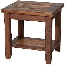 rustic end tables make from pallets for display of head with