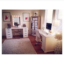 almost exactly how i want my makeup room office to be set up