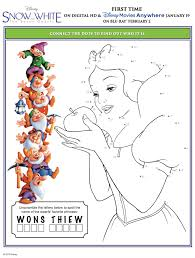 snow white dwarfs printable activity sheets mommadjane